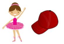 ballerina baseball cap