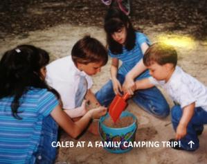 CALEB on camping trip
