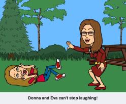 donna eva laughing