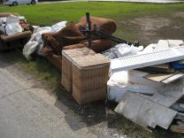trash at road