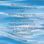 Word of GODspeak