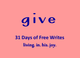 Day 21 of 31 days give